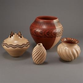 Lot #11 - Group of Jemez Pottery Yepa and Fragua with a Starting Bid of $300