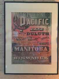 Northern Pacific Lithograph, original