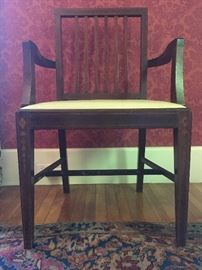 Custom Made Dining Set with Fruitwood Inlay