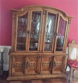 China Cabinet - Drexel Heritage has a large amount of bottom storage - pull out draws on both sides  for all of your silver and table linens
