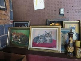 Many cat oil paintings