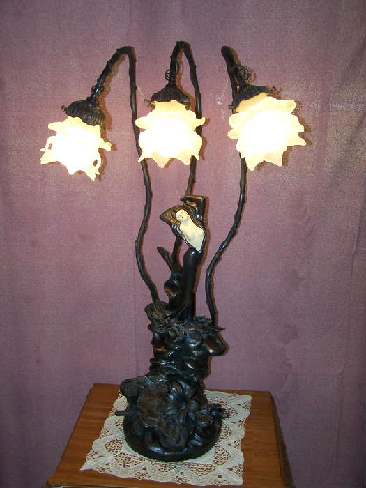 L & L Moreau Art Deco Lamp