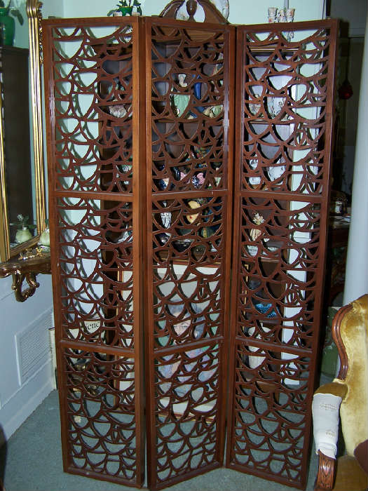 Solid Walnut 3 Panel Screen