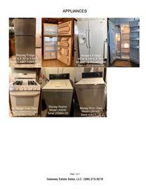Appliances: Maytag Refrigerator, Amana Side by Side Refrigerator, GE Stove (gas), Maytag Washer & Dryer (gas).