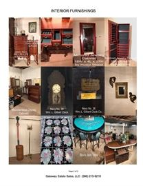Interior Furnishings: Jewelry Stands, Navy No 28 Clock, Black Jack Table