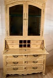 "Display cabinet w/ fold down desk by Century.  48""x22""x89"""