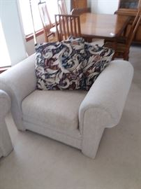 OS arm chair and matching sofa/sleeper are in excellent condition from this pet-free, smoke-free home