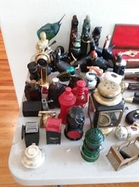 large collection of vintage Avon collectible cologne bottles