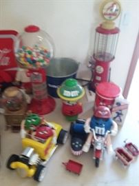 Fun replica M&M, Radio Flyer, and Coke collectibles and more
