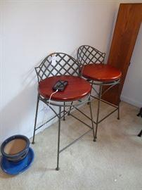 pair bar stools