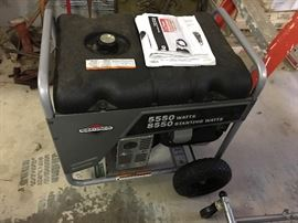 5550 watt gas generator in like new condition