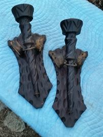 gothic candle sconces