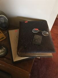 Victorian photo albums (empty)