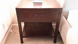 Pretty wood end tables with one drawer (2 tables).