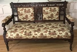 Victorian Eastlake Antique Settee   http://www.ctonlineauctions.com/detail.asp?id=728665