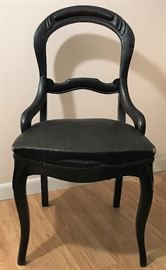 Ebony Victorian Chair  http://www.ctonlineauctions.com/detail.asp?id=728666