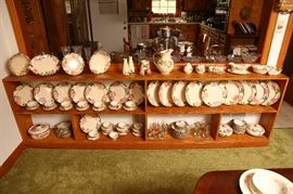 Large collection of Franciscan china, Desert Rose pattern.
