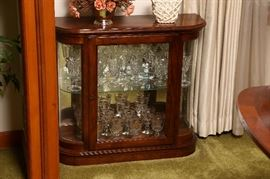 Small lighted display case.