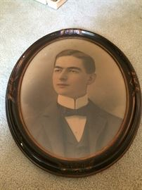 Antique oval frame with an instant relative!