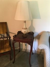Other end table. Lamps sold as a pair.