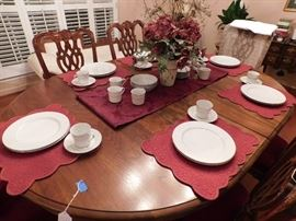 "40  pc. china ""Satin Song"" by Kristina Collection, there are 12 plates, cups, saucers & 4 bowls"