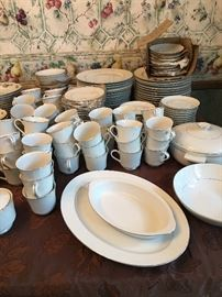 Crown Victoria China, Lovelace pattern.  Most were never used.