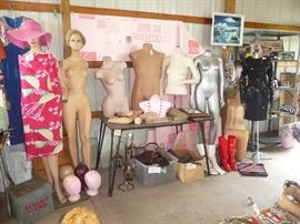 lots of vintage Manikins and parts