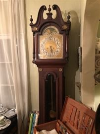 Antique New Haven tall case clock