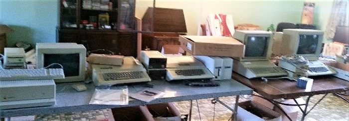 All Vintage Apple Computers - sorry for bad phone photo, close-ups in following pictures...