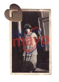 """Bonnie Parker On Train Car Steps, 1 5/8"""" x 2.5"""""""
