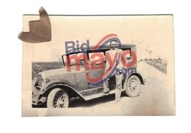 "Clyde Barrow In Suit By Car, 2 5/8"" x 1.75"""