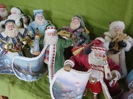 Vintage Thomas Kincade Santa Collection
