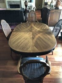 Dining table. Has another leaf