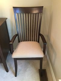 Close up of the arm chairs / dining room chairs.