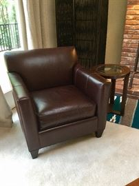 Crate & Barrel leather chair.
