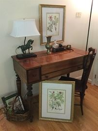 Early American chair, early 1900's desk