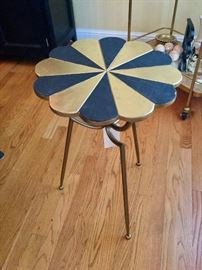 hand painted petal table