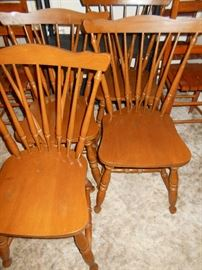 4 Spindle back chairs