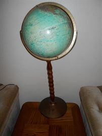 World Ocean Series globe on stand