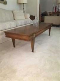 Vintage Fine Living Room Coffee Table and Matching End Tables