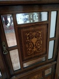Close up of the inlaid doors