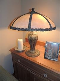 Original Slag Glass Lamp