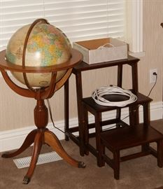Globe and library step stool