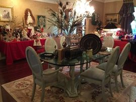 The Dining Room Table and Six Chairs, just beautiful!! great decorative items