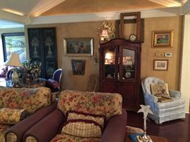 Wonderful antique furniture in the sitting areas