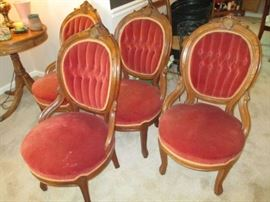 Set of 4  Victorian side chairs