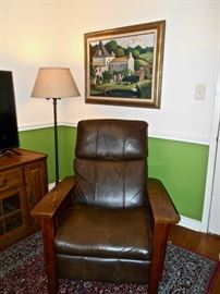 Leather Chair, L.Reigner Art