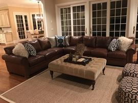 leather sectional is not available