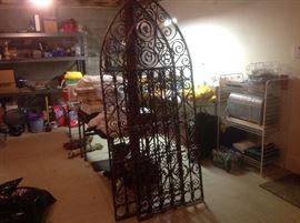 Iron gates for a garden