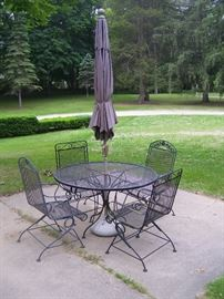 Wrought iron patio sets.